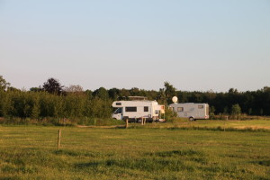 Camperplaatsen bosje